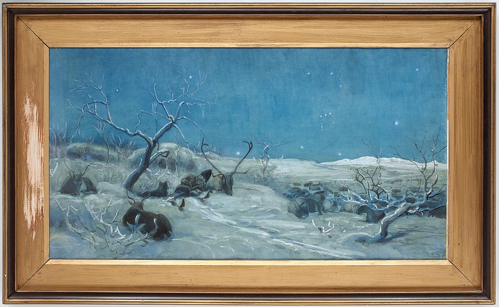 JOHAN TIRÉN, tillskriven, akvarell.