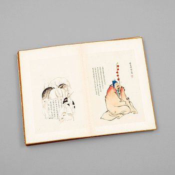 323. An album with 80 paintings and calligraphy, late Qing Dynasty (1644-1912).