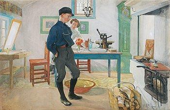"564. Carl Larsson, ""Vet du vad? Var god och glad!"" / ""Esbjörn led"" / ""Grolle nicht""."