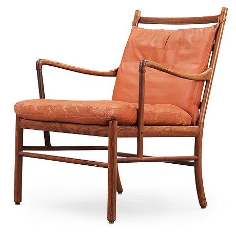 "Ole wanscher, karmstol, ""colonial chair, pj 149"", poul jeppesen, danmark."