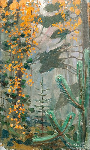 Akseli gallen-kallela, autumn forest.
