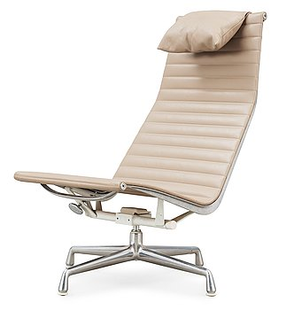 94. Charles & Ray Eames, A Charles & Ray Eames, 'EA-119' beige leather and aluminium chair, Vitra.
