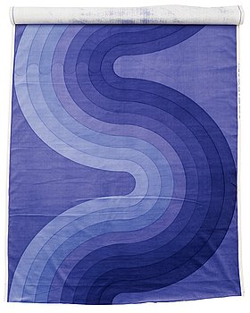 124. VERNER PANTON, FABRICS, 3 PIECES.  Cotton velor. A variety of nuances and patterns. Verner Panton.