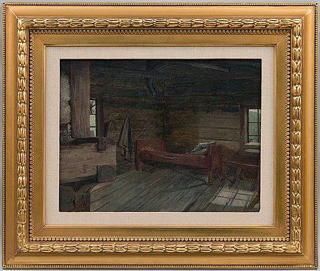 "Sigfrid august keinänen, ""in the hut""."