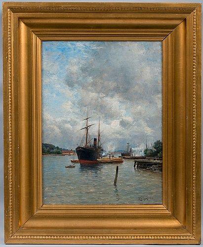 Berndt lindholm, in the harbor.