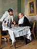 """Vladimir egorovich makovski, """"in the tavern"""". МАКОВСКИЙ, ВЛАДИМИР ЕГОРОВИЧ 1839-1915 """"В ТРАКТИРЕ"""". Подпись и дата: 1887. Дерево, масло."""