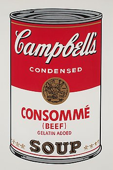 """205. Andy Warhol, """"Consommé (Beef)"""", from: """"Campbell's soup I""""."""
