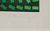 Victor vasarely, färglitografi, signerad o numrerad: 75/100.