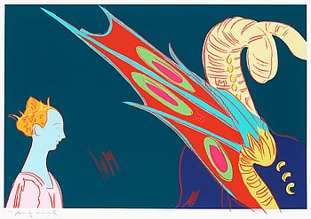 """209. Andy Warhol, """"Paolo Uccello, St. George and the Dragon"""", from: """"Details of renaissance paintings""""."""