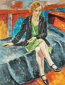 """13. Birger Simonsson, """"Flicka med cigarett"""" (Girl with cigarette)."""