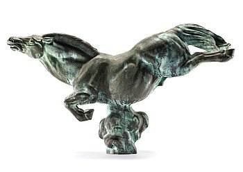 "743. Carl Milles, ""Flygande hästen"" (=The flying horse)."