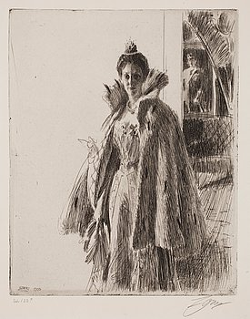 """719. Anders Zorn, """"H. R. H. Princess Ingeborg of Sweden I""""."""