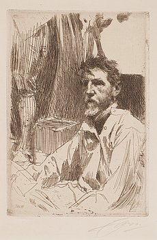 723. Anders Zorn, ANDERS ZORN, Etching (II state of II), 1897, signed in pencil.