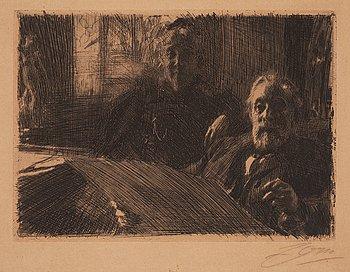 """712. Anders Zorn, """"Mr. and Mrs. Fürstenberg""""."""