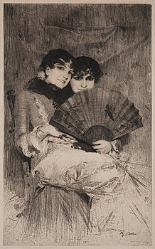 """711. Anders Zorn, """"The Cousins""""."""