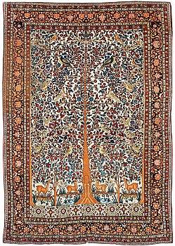 808A. CARPET. Semi-antique Esfahan possibly. 278,5 x 203 cm.
