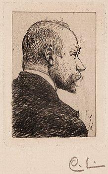 CARL LARSSON, etsning (II état av II), 1896 (upplagan högst 25 exemplar), signerad med blyerts.