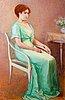 Elin danielson-gambogi, porträtt av en ung dam.