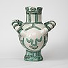 A pablo picasso 'vase gros oiseau vert' faience jar, madoura, vallauris, france 1960.