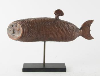 "LINDBERG, STIG, skulptur, brons, ""Månfisken"", sign o numr 207."
