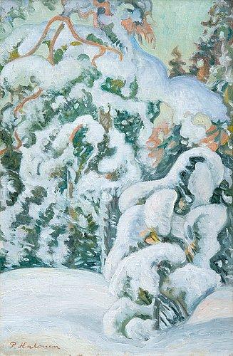Pekka halonen, winter landscape.