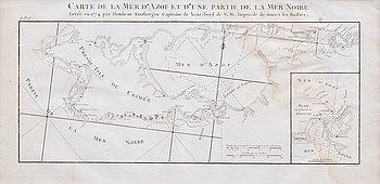 77. A MAP OF CRIMEA. КАРТА КРЫМА. Carte de la Mer d´Azof et d´une partie de la Mer Noire...