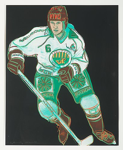 "Andy warhol, ""frölunda hockey player""."