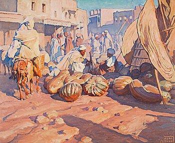 """1016. Adam Styka, """"Le marché au Marrakech""""."""