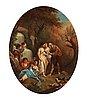 Francois boucher follower of, shepherds and shepherdesses.