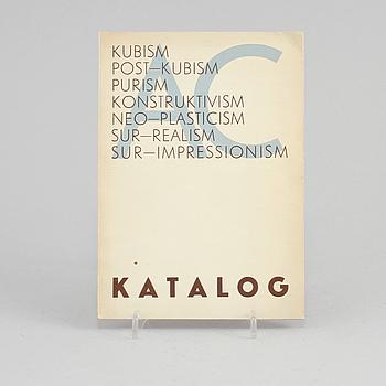 """OTTO G CARLSUND, """"Internationell Utställning av Post-kubistisk konst, Parkrestaurangen, Stockholmsutställningen 1930""""."""