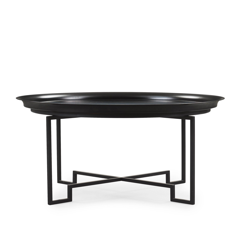 A PerÖberg black lacquered tin and iron sofa table, Svenskt Tenn, post 2000 Bukowskis