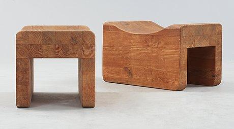 """Axel einar hjorth, taburetter, ett par, sannolikt modell """"utö"""", nordiska kompaniet, 1930-tal."""