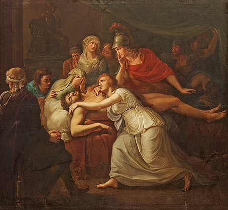 Heinrich friedrich füger circle of, andromache lamenting the death of hector.