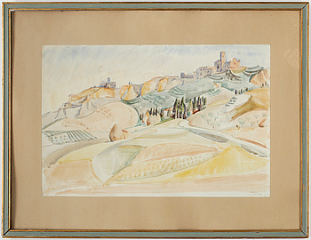 ANDRÉ LHOTE, akvarell, signerad  A. Lothe.