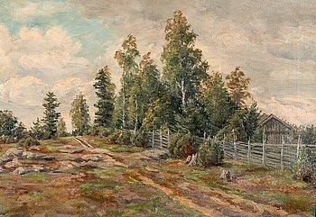 14. Sigfrid August Keinänen, SUMMER LANDSCAPE.