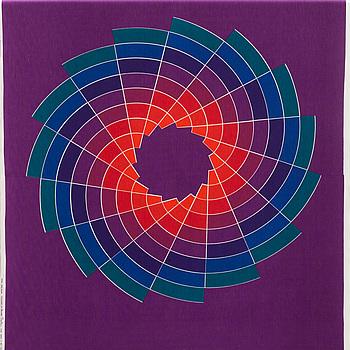 TEXTIL, bomull, Verner Panton för Mira-X. 1970-tal.