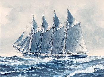 4. ADOLF BOCK, THE FOUR-MASTED SHIP ATLAS FROM MARIEHAMN.