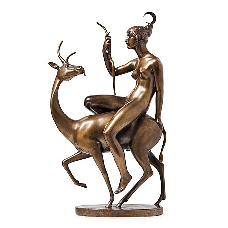 """Tore strindberg, """"diana and the hind""""."""
