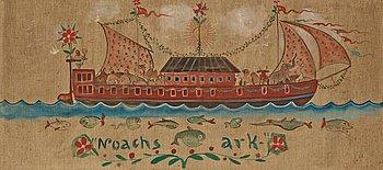 "716. Ivar Arosenius, ""Noachs ark"" (Noah's Ark)."