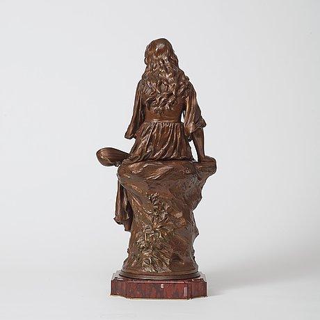 "Paul eugène mengin, ""femme à la mandoline"" (=woman with mandolin)."