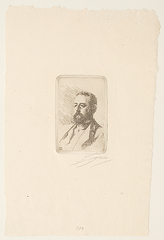 ANDERS ZORN, etsning, utförd 1888, signerad i blyerts.