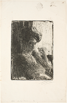 ANDERS ZORN, ANDERS ZORN, etching, 1905, signed with pencil.