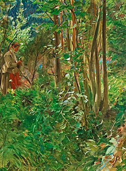 """714. Anders Zorn, """"Sol i skogen"""" (Sun in the forest)."""
