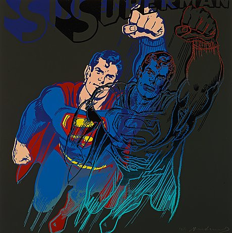 "Andy warhol, ""superman""."