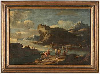 866. SALVATOR ROSA, hans krets, olja på duk, ej signerad.