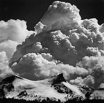 "213. Ansel Adams, ""Thunderclouds, Unicorn Peak, Yosemite National Park"", ca 1967."