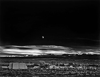 "209. Ansel Adams, ""Moonrise Hernandez, New Mexico, 1941""."
