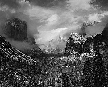 "210. Ansel Adams, ""Clearing Winter Storm, Yosemite National Park, California"", 1944."