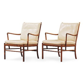 16. A pair of Ole Wanscher Colonial Chair, 'PJ 149' Poul Jeppesen, Denmark.