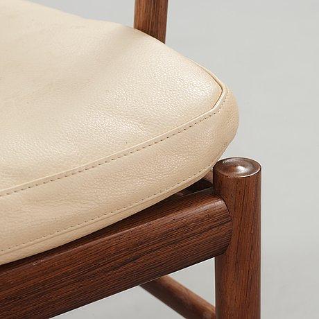 A pair of ole wanscher colonial chair, 'pj 149' poul jeppesen, denmark.